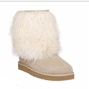 Ugg Mongolian Fur Sheepskin Cuff Boots